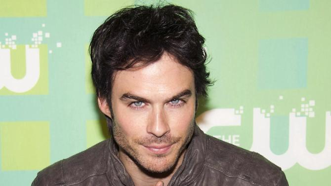 Ian Somerhalder attends The CW Television Network's Upfront 2012 in New York, Thursday, May 17, 2012. (AP Photo/Charles Sykes)