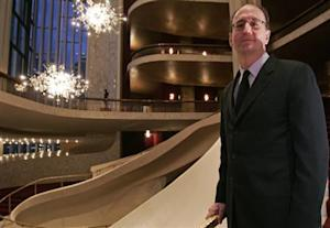 Gelb, new general manager of Lincoln Center's Metropolitan Opera, poses in lobby of opera house in New York