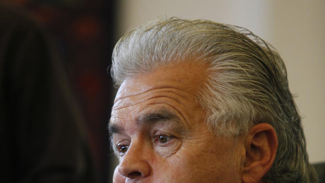 Anthony Brooklier, attorney for Giovanni Ramirez, looks on during a news conference, Friday, July 22, 2011, in downtown Los Angeles. Two new suspects were arrested by police iin the beating of San Francisco Giants fan Bryan Stow outside Dodger Stadium.  Police previously arrested Ramirez in the case. He remains in custody for a parole violation. (AP Photo/Damian Dovarganes)