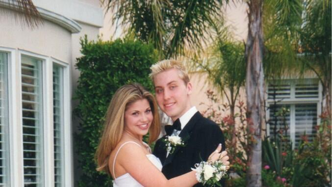 Danielle Fishel and her prom date, Lance Bass