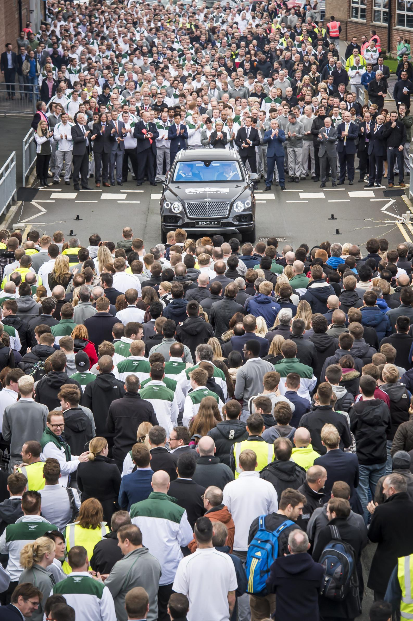 The first production Bentley Bentayga makes its debut