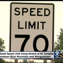 Part Of Pa. Turnpike Gets Speed Limit Increase