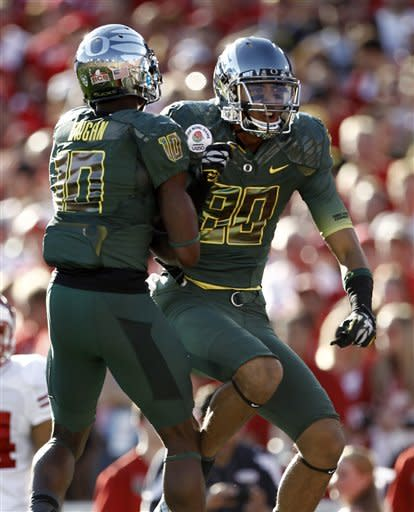 Oregon powers past Wisconsin 45-38 in Rose Bowl