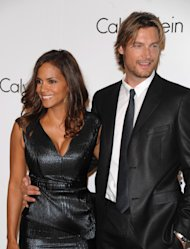 FILE - In this Sept. 7, 2008 file photo, Model Gabriel Aubry and actress Halle Berry attends the Calvin Klein 40th anniversary party during Fashion Week in New York. Berry&#39;s ex-boyfriend Aubry was arrested for investigation of battery after he and the Oscar-winning actress&#39; current boyfriend got into a fight at her California home, police said Thursday, Nov. 22, 2012. (AP Photo/Peter Kramer, File)