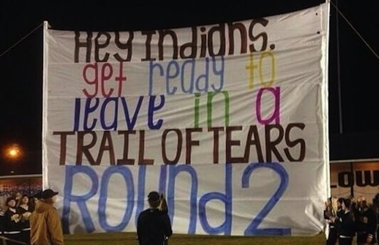 This run-through sign landed the McAdory High cheerleaders in hot water — Tumblr