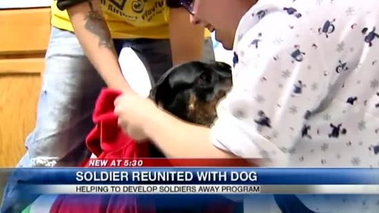 Local shelter helps soldier bring dog along on assignment