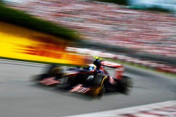 Jean-Eric Vergne of France and Scuderia Toro Rosso drives during the Canadian Formula One Grand Prix at the Circuit Gilles Villeneuve on June 10, 2012 in Montreal, Canada. (Photo by Paul Gilham/Getty