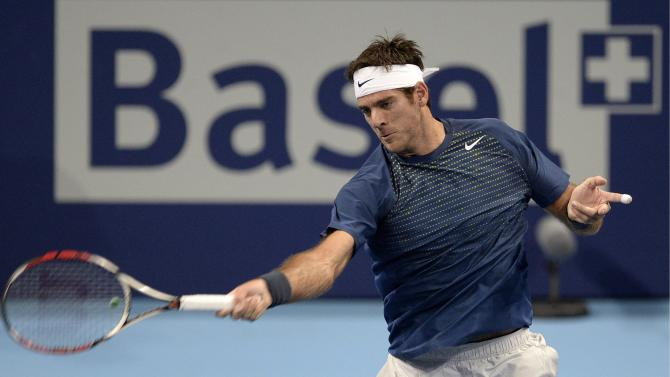 Del Potro eases past Baghdatis in Swiss Indoors