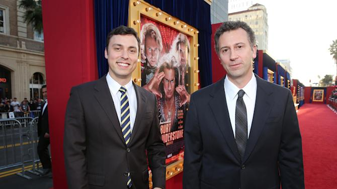 Writer John Francis Daley and Writer Jonathan M. Goldstein at New Line Cinema's World Premiere of 'The Incredible Burt Wonderstone' held at Grauman's Chinese Theatre on Monday, Mar., 11, 2013 in Los Angeles. (Photo by Eric Charbonneau/Invision for New Line Cinema/AP Images)