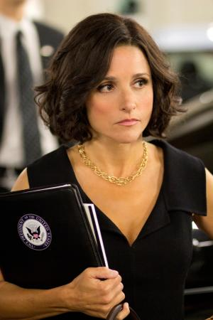 """This Oct. 4, 2011handout photo provided by HBO shows actress Julia Louis-Dreyfus star of the HBO series """"Veep"""". Watch out, Joe Biden. The other vice president is in the house.The White House says Louis-Dreyfus, who plays Vice President Selina Meyer on the HBO comedy """"Veep,"""" is at the White House to have lunch with Biden. (AP Photo/HBO, Bill Gray)"""