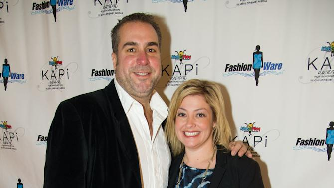 Tom Ortel and Genna Rosenberg at the International CES FashionWares fashion show at the Venetian Ballroom inside the Venetian resort and casino on Thursday, January 10, 2013, Las Vegas, NV. (Photo by Al Powers/Powers Imagery/Invision for CRA-Z-ART/AP Images)