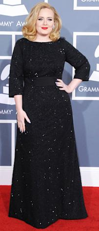 Skinny Adele Dazzles in Armani at GRAMMY Awards