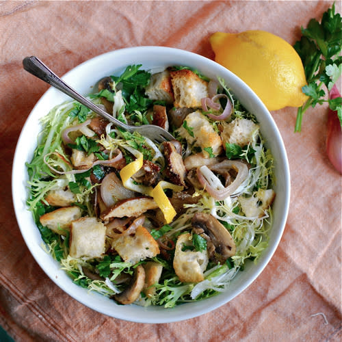 Frisee Salad with Roasted Mushrooms