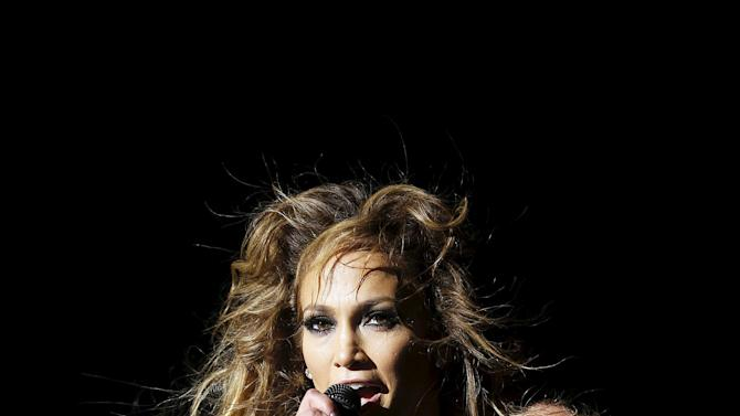 Singer Jennifer Lopez performs during the 14th Mawazine World Rhythms International Music Festival in Rabat