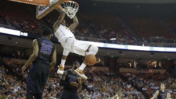 Holmes 3-pointer sends Texas over K-State 67-64