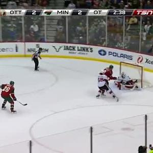 Andrew Hammond Save on Charlie Coyle (02:23/OT)