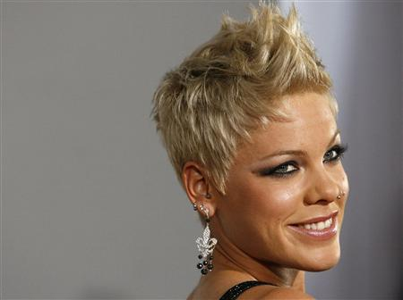 File photo of Pink at the 49th Annual Grammy Awards in Los Angeles