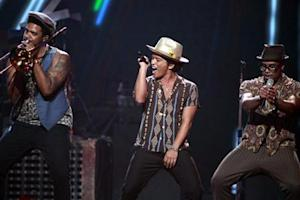 Bruno Mars performs during the iHeartRadio Music Festival in Las Vegas