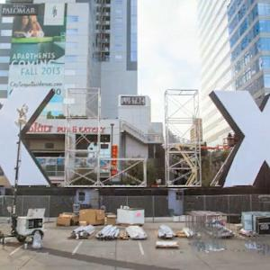 XLIX sign time lapse