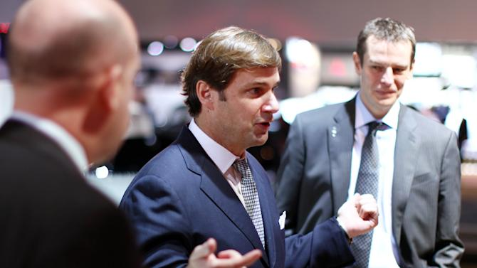 Jim Farley, executive vice president of Global Marketing, Sales and Service and Lincoln, Ford Motor Company, is seen at Lincoln's Heritage on Display at the Los Angeles Auto Show press day, Wednesday, Nov. 28, 2012 in Los Angeles. (Photo by Matt Sayles/Invision for Lincoln/AP Images)