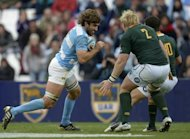 Argentina's Juan Martin Fernandez Lobbe (L) during a Rugby Championship match against South Africa in August. The All Blacks will try to shut down two key players, Lobbe and fly-half Juan Martin Hernandez, during Saturday's match