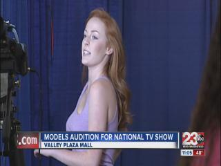 Models audition for national tv show