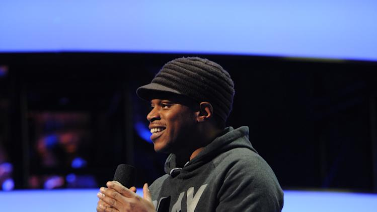 IMAGE DISTRIBUTED FOR MTV - MTV News' Sway Calloway hosts the 2013 MTV Upfront, on Thursday, April 25, 2013 at the Beacon Theater in New York. (Photo by Scott Gries/Invision/AP Images)