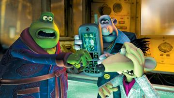 Toad (voiced by Ian McKellen ), Whitey (voiced by Bill Nighy ) and Spike (voiced by Andy Serkis ) in DreamWorks Animation's Flushed Away