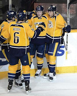 Weber leads Predators to 6-1 win against Sabres