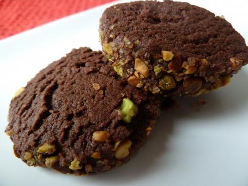 Bittersweet Chocolate and Salted Pistachio Cookies