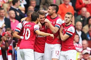 Arsenal 3-1 Stoke: Ozil sets up three Gunners goals