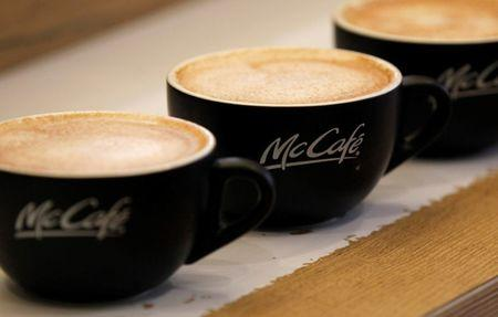File photo of McDonald's McCafe coffees at its Harajuku-Omotesando shop in Tokyo