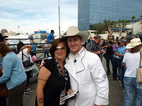 Me & Cord McCoy at the PBR World Finals 2010 at the Big Green Egg cook-off