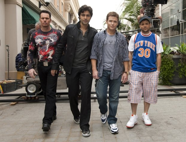 "Kevin Dillon, Adrian Grenier, Kevin Connolly and Jerry Ferrara in ""Entourage"" --"