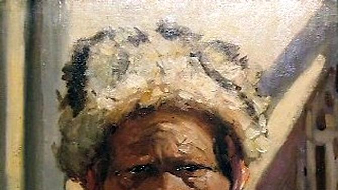 "This undated photo provided by The City of Tshwane on Monday, Nov. 12, 2012, shows a Hugo Naudé ""Hottentot Chief"" oil on canvas. Police in South Africa said Monday that  robbers posing as visitors to an art museum stole more than $2 million worth of art including ""Hottentot Chief""  from an exhibit near the country's capital. (AP Photo/The City of Tshwane)"
