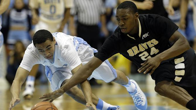 No. 12 UNC beats UNC Pembroke 82-63 in exhibition