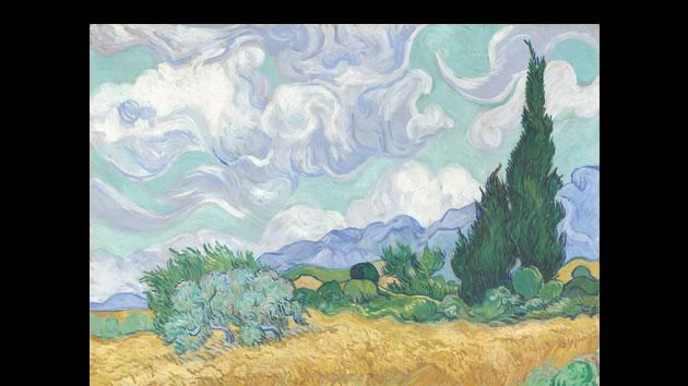 """A Wheatfield with Cypresses"" by Vincent van Gogh, sold for $57 million in 1993."
