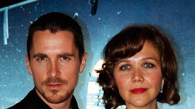 The Dark Knight UK Premiere 2008 Christian Bale Maggie Gyllenhaal