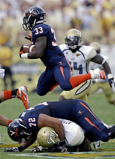 Washington, Georgia Tech overwhelm Virginia 56-20