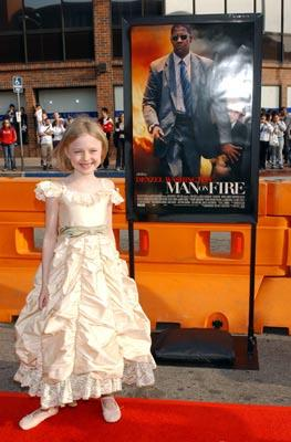 Dakota Fanning at the LA premiere of 20th Century Fox's Man on Fire