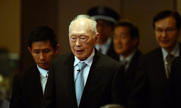 Ex-PM Lee Kuan Yew, seen here in a 2012 file photo, was hospitalised after a mini-stroke.