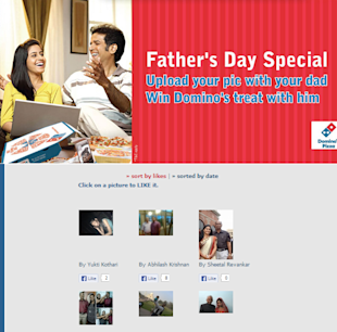 9 Cool Fathers Day Facebook Campaigns 2013 image dominos fathers day