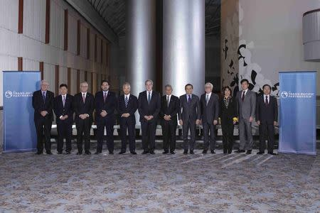 "Trans-Pacific Partnership Ministers meeting post in TPP Ministers ""Family Photo"" in Atlanta Georgia"