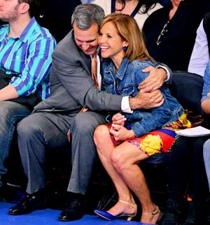 Katie Couric, Boyfriend John Molner Pack on the PDA During NBA Playoff Game: Picture