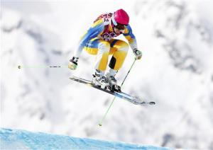 Sweden's Victor Oehling-Norberg competes during the men's freestyle skiing skicross qualification round at the 2014 Sochi Winter Olympic Games in Rosa Khutor