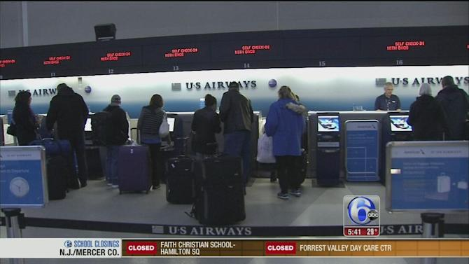 Flights canceled at Philadelphia International Airport
