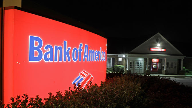 FILE - In this April 16, 2010 file photo, a Bank of America branch is shown in Charlotte, N.C. Bank of America said Monday, Oct. 18, 2010, it plans to resume foreclosures in 23 states next week and will refile paperwork for 102,000 cases. (AP Photo/Chuck Burton, file)