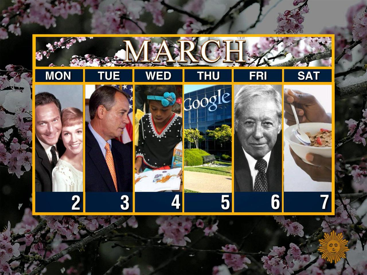 ​Calendar: Week of March 2