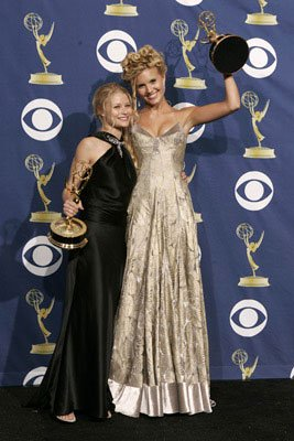Emilie de Ravin and Maggie Grace of &quot;Lost&quot;