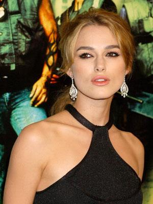 Keira Knightley at the Hollywood premiere of New Line Cinema's Domino